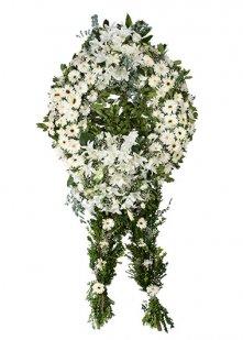 Lilyum Gerbera Cenaze Çelengi